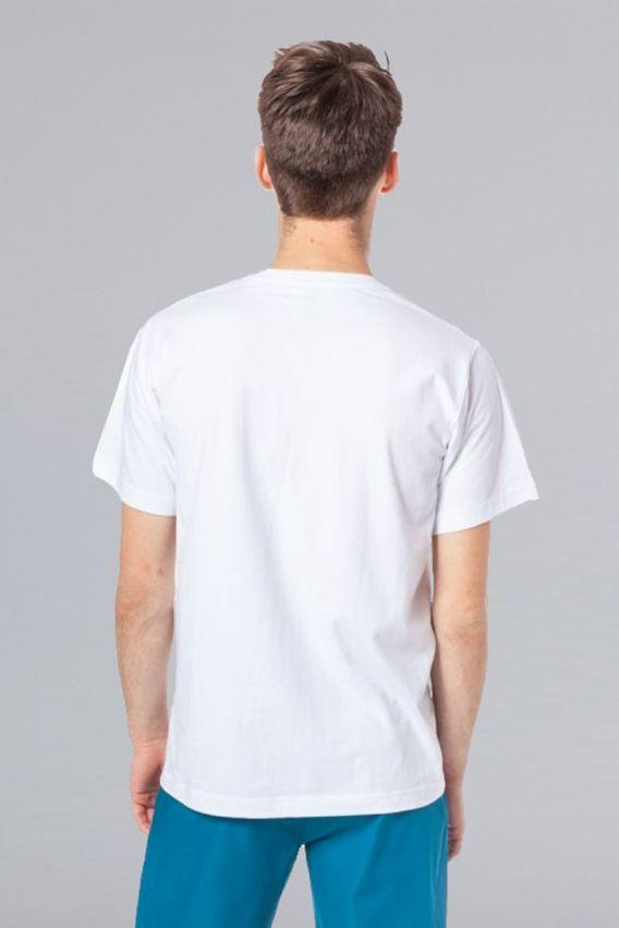 koszulki-medyczne-meskie-z-krotkim-rekawem Męska koszulka, t-shirt Malfini biała
