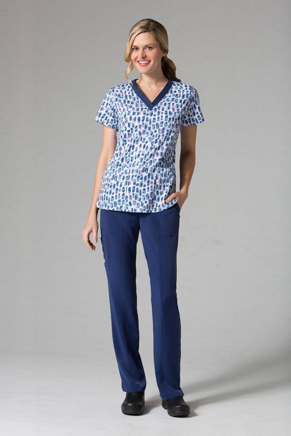 bluzy-we-wzory Kolorowa bluza damska Maevn Prints płatki