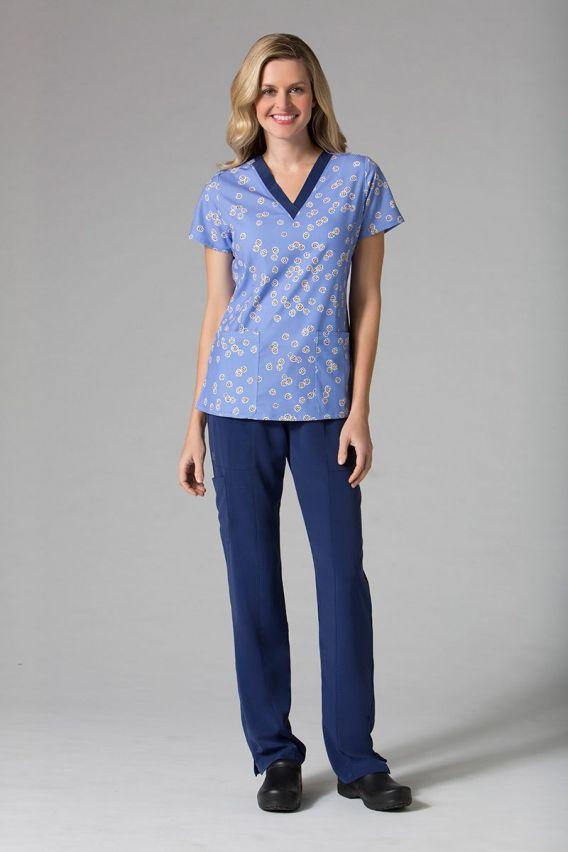 bluzy-we-wzory Kolorowa bluza damska Maevn Prints żółte kwiaty