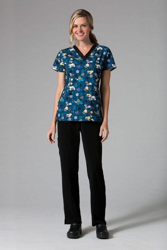 bluzy-we-wzory Kolorowa bluza damska Maevn Prints kolorowe jeże