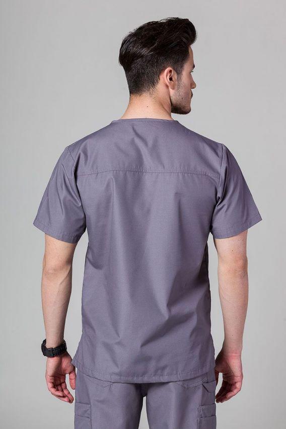 bluzy-medyczne-meskie Bluza męska Maevn Red Panda szara