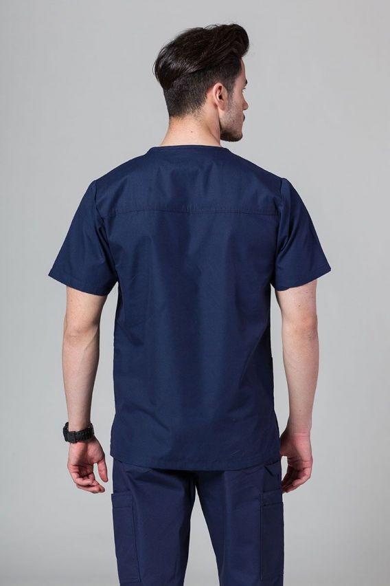 bluzy-medyczne-meskie Bluza męska Maevn Red Panda ciemny granat