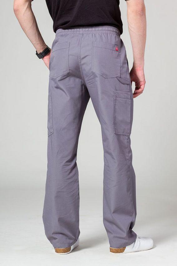 spodnie-medyczne-meskie Spodnie męskie Maevn Red Panda Cargo (6 kieszeni) szare