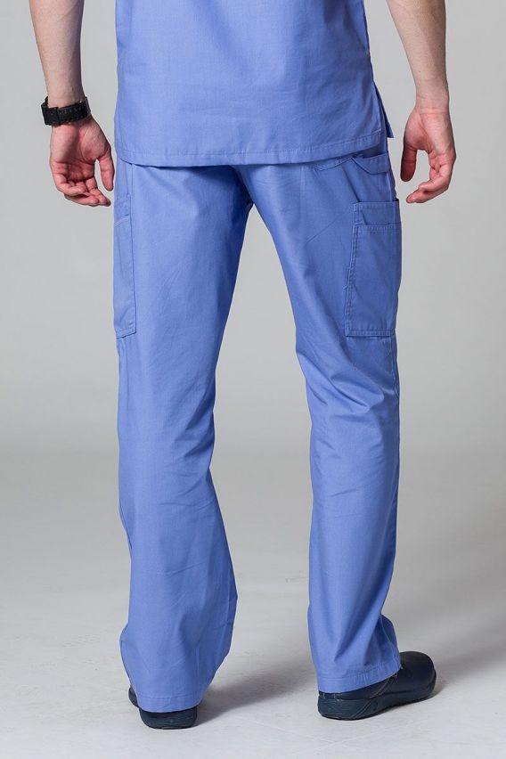 spodnie-medyczne-meskie Spodnie męskie Maevn Red Panda Cargo (6 kieszeni) klasyczny błękit