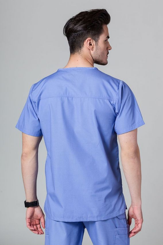 bluzy-medyczne-meskie Bluza męska Maevn Red Panda klasyczny błękit