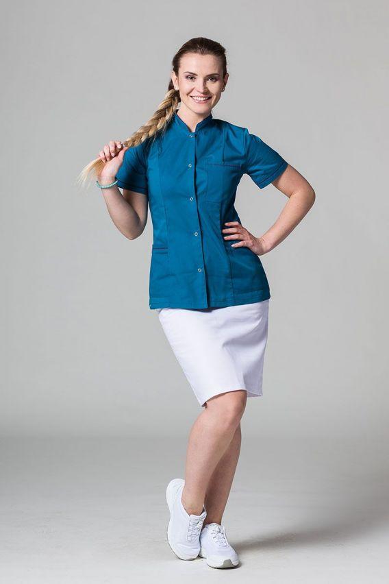 zakiety Żakiet ze stójką Sunrise Uniforms karaibski błękit z oberżynową lamówką