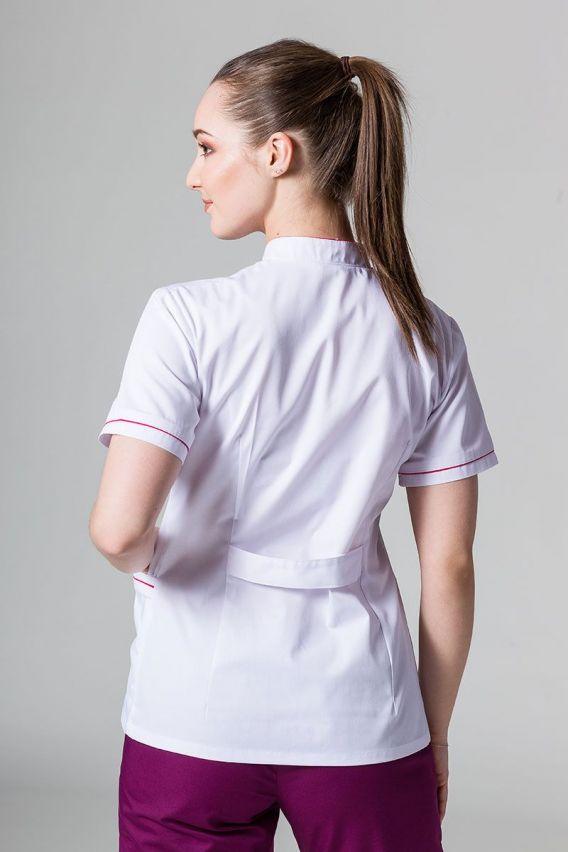 zakiety Żakiet ze stójką Sunrise Uniforms biały z malinową lamówką