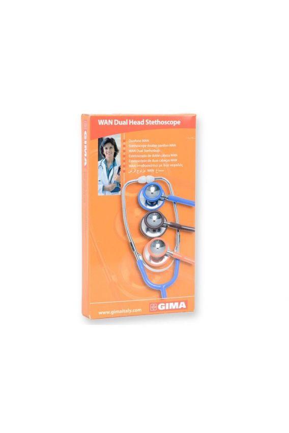 stetoskopy Stetoskop internistyczny GIMA WAN DOUBLE HEAD - pomarańczowy