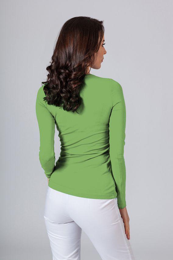 polo-damskie Koszulka damska z długim rękawem zielona