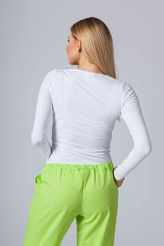 koszulki-medyczne-damskie Koszulka damska z długim rękawem biała