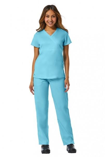 bluzy-medyczne-damskie Bluza damska Maevn EON Style błękitna