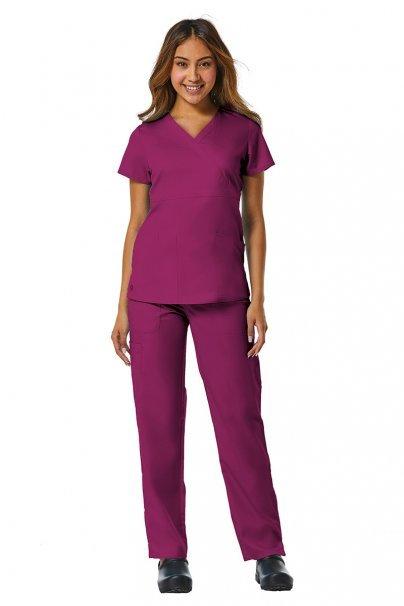 bluzy-medyczne-damskie Bluza damska Maevn EON Style wiśniowa