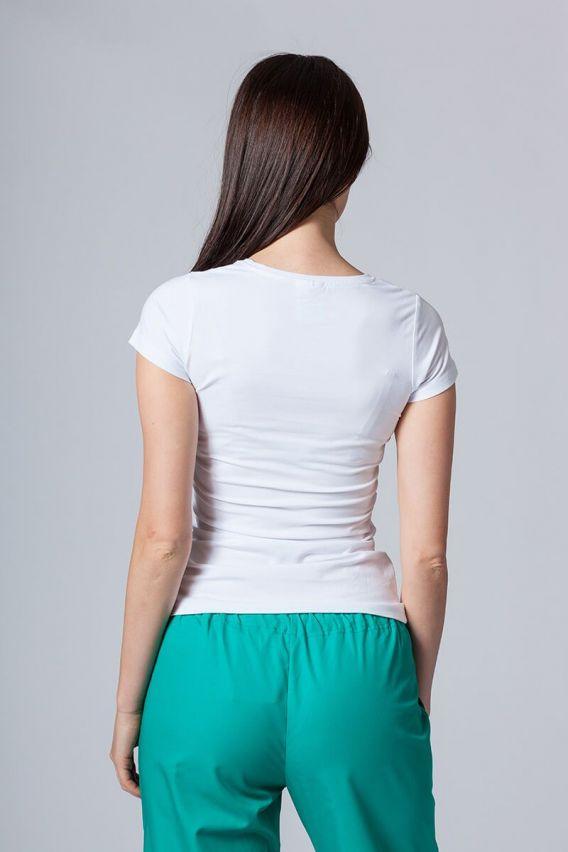 koszulki-medyczne-damskie Koszulka damska z krótkim rękawem biała