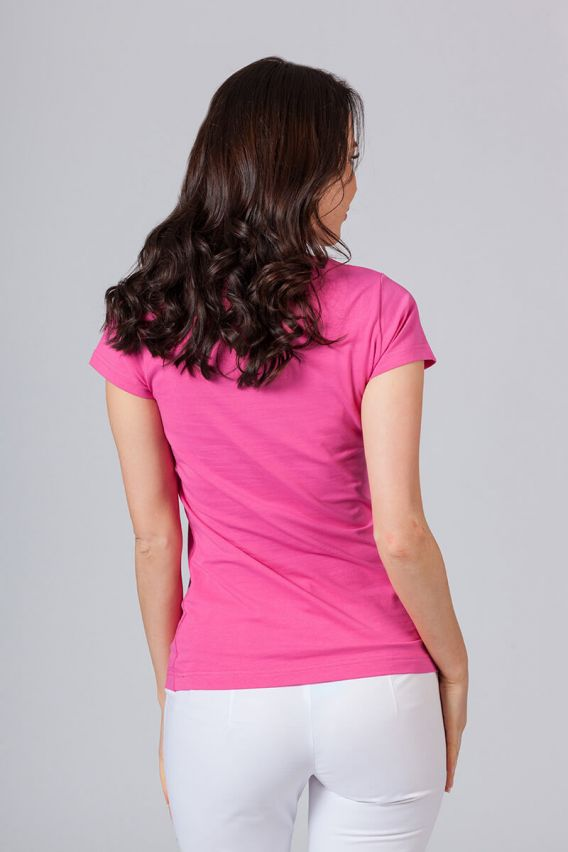 koszulki-medyczne-damskie Koszulka damska z krótkim rękawem malinowa