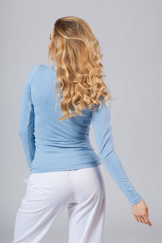 koszulki-medyczne-damskie Koszulka damska z długim rękawem niebieska
