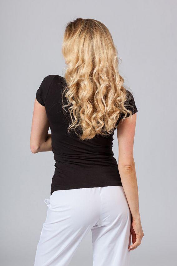 koszulki-medyczne-damskie Koszulka damska z krótkim rękawem czarna