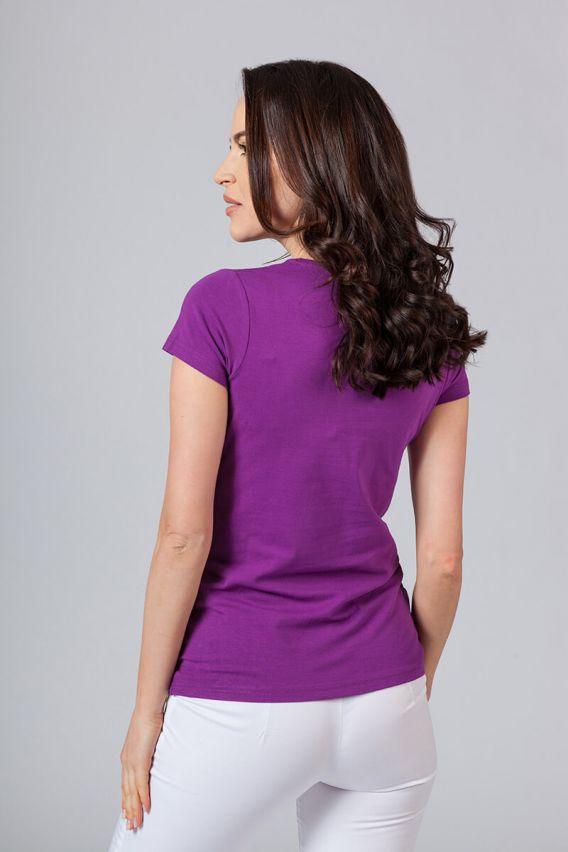 koszulki-medyczne-damskie Koszulka damska z krótkim rękawem fioletowa