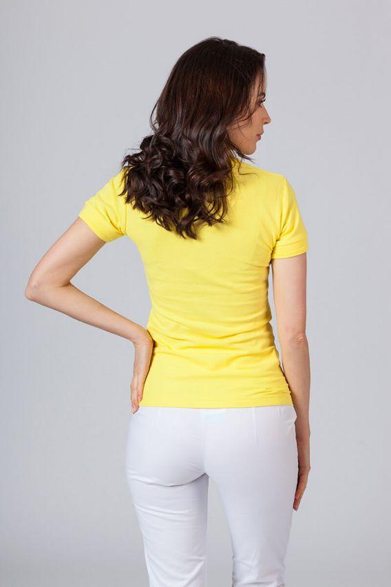 polo-damskie Koszulka damska Polo żółta