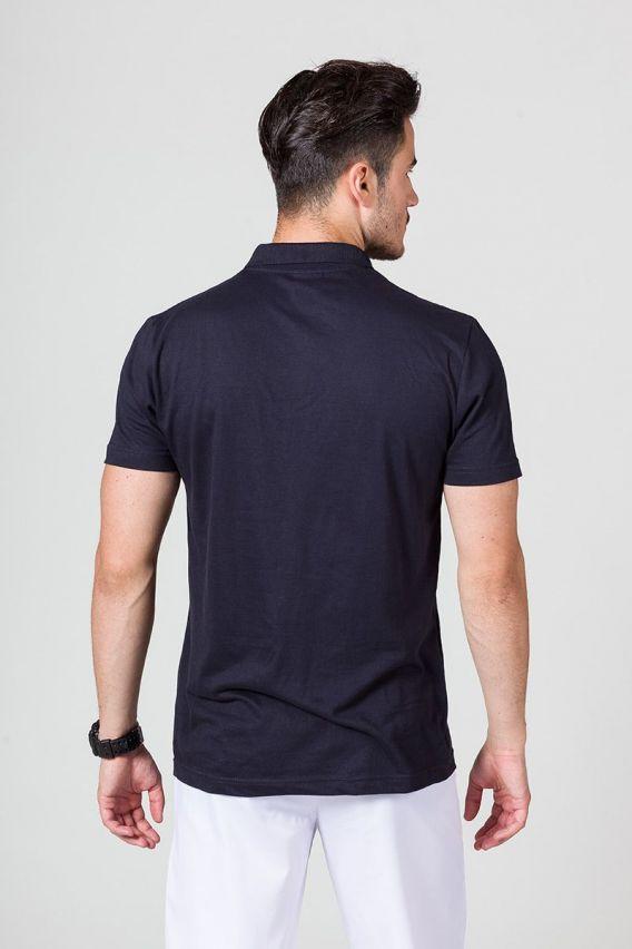 koszulki-medyczne-meskie Koszulka męska Polo ciemny granat