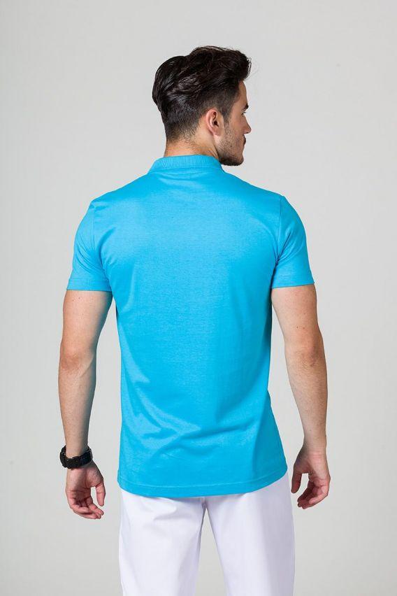 polo-meskie Koszulka męska Polo turkusowa