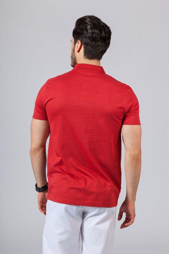 koszulki-medyczne-meskie Koszulka męska Polo czerwona
