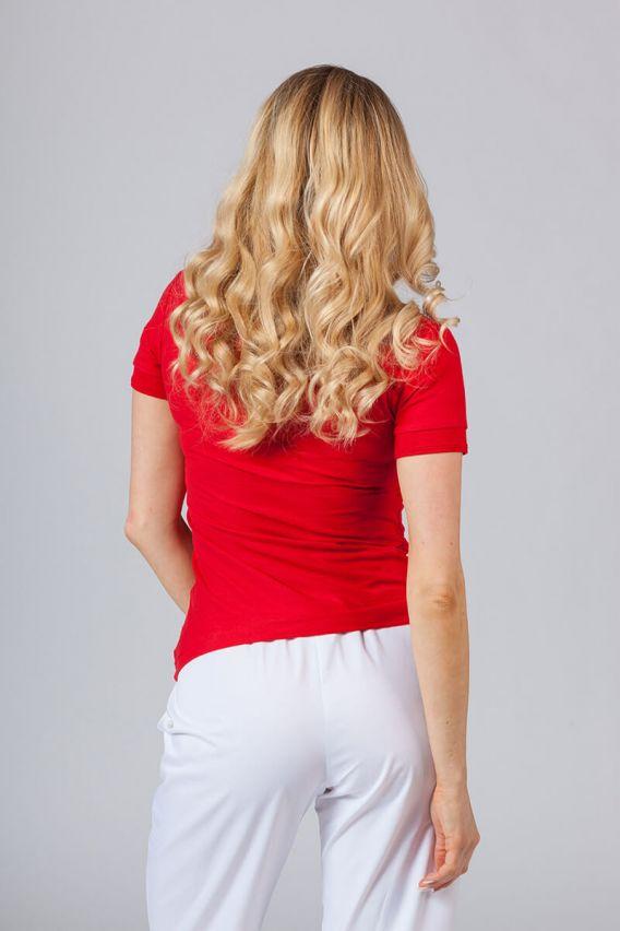 polo-damskie Koszulka damska Polo czerwona