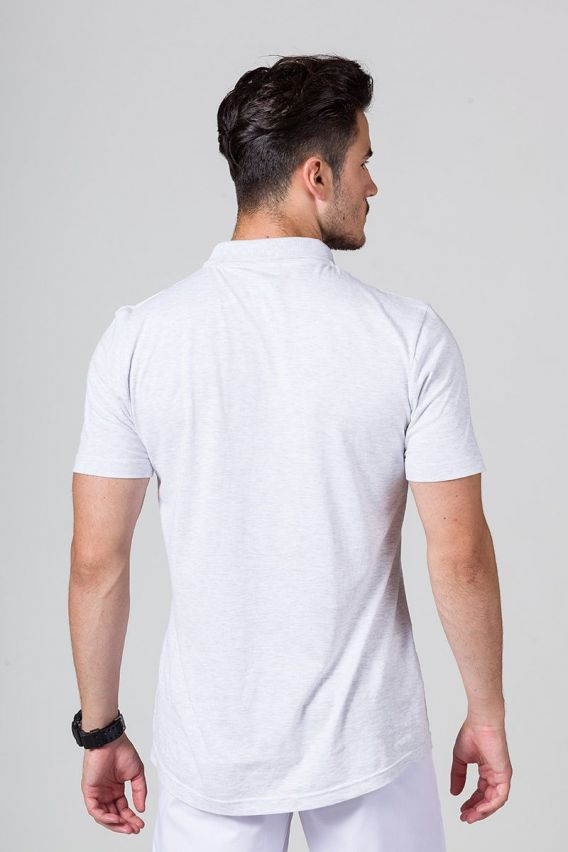 polo-meskie Koszulka męska Polo jasnoszary melanż