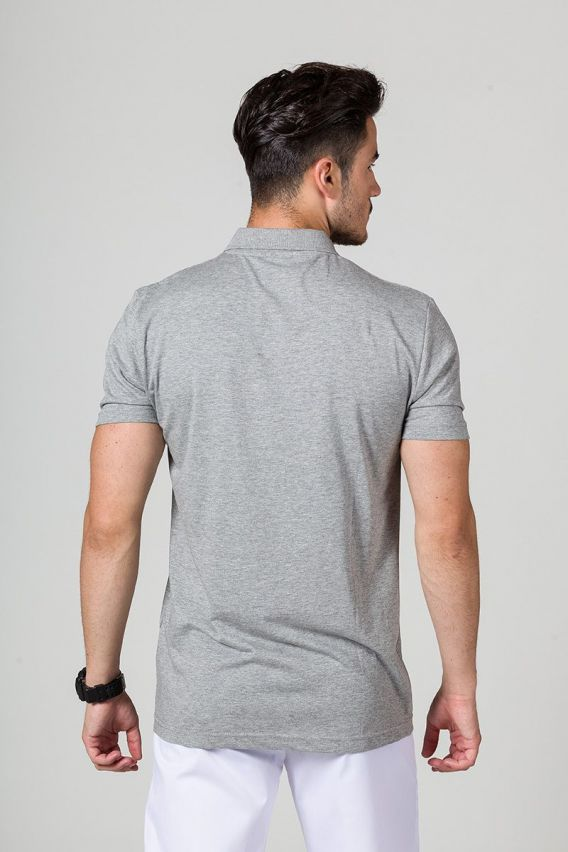 polo-meskie Koszulka męska Polo ciemnoszary melanż