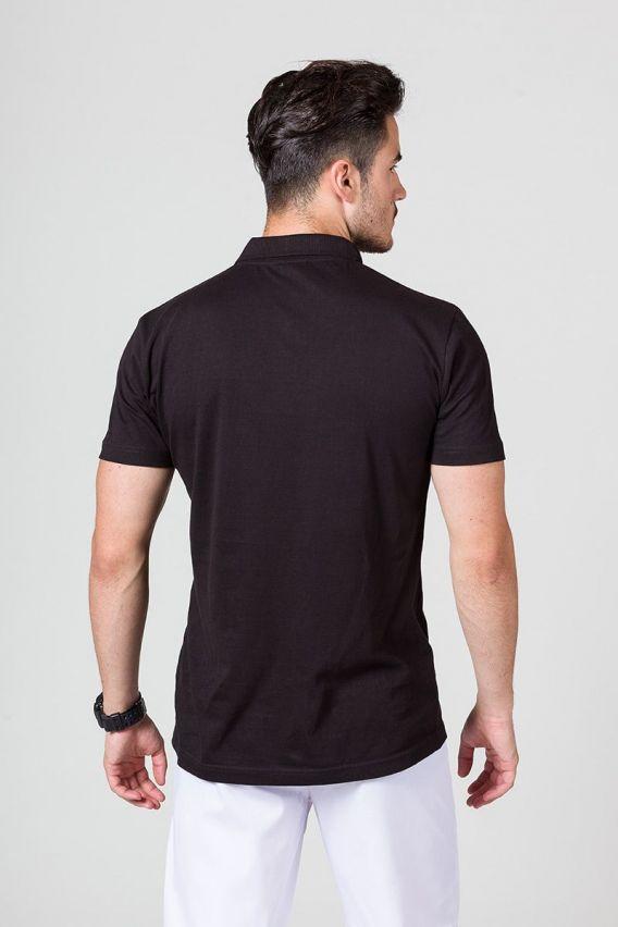 koszulki-medyczne-meskie Koszulka męska Polo czarna