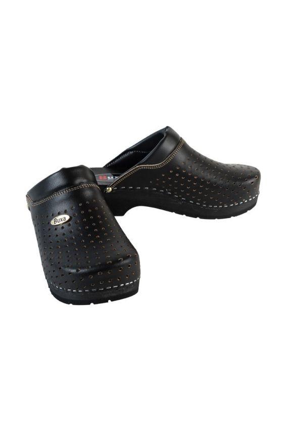 obuwie-medyczne-damskie Obuwie medyczne Buxa Supercomfort FPU11 czarne + czarny podeszwa