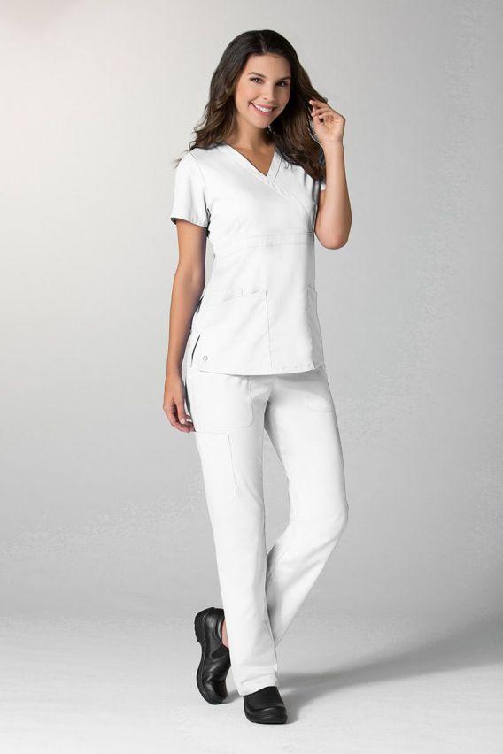 spodnie-medyczne-damskie Spodnie damskie Maevn EON Style białe