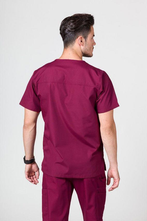 bluzy-medyczne-meskie Bluza męska Maevn Red Panda wiśniowa