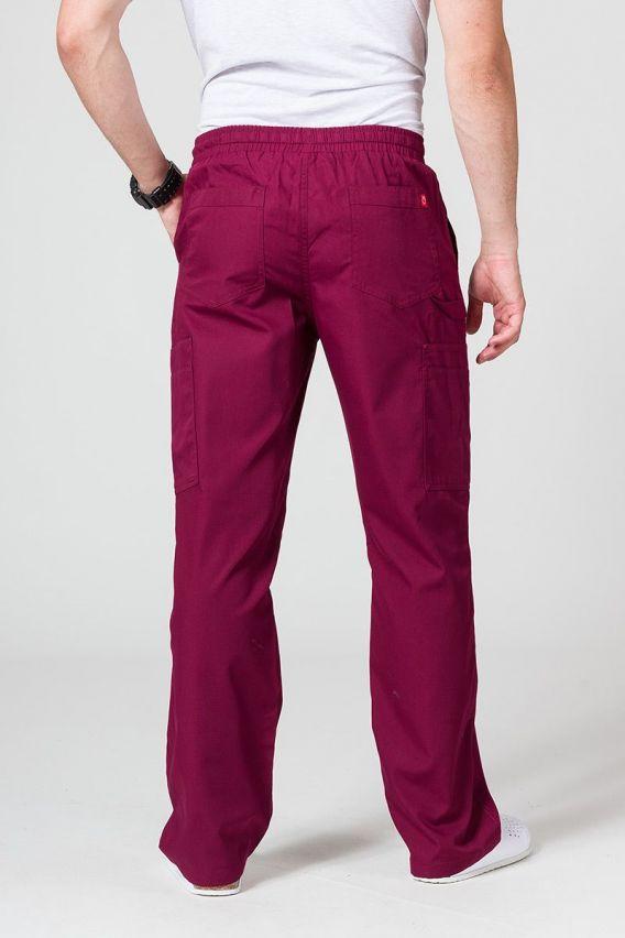 spodnie-medyczne-meskie Spodnie męskie Maevn Red Panda Cargo (6 kieszeni) wiśniowe