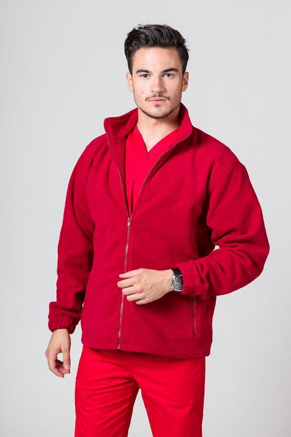 bluzy-polarowe-meskie Bluza polarowa męska czerwona