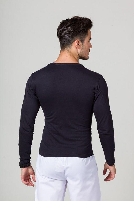 koszulki-medyczne-meskie Koszulka męska z długim rękawem ciemny granat