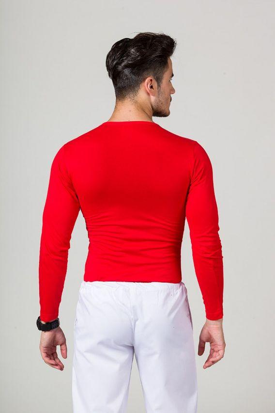 koszulki-medyczne-meskie Koszulka męska z długim rękawem czerwona