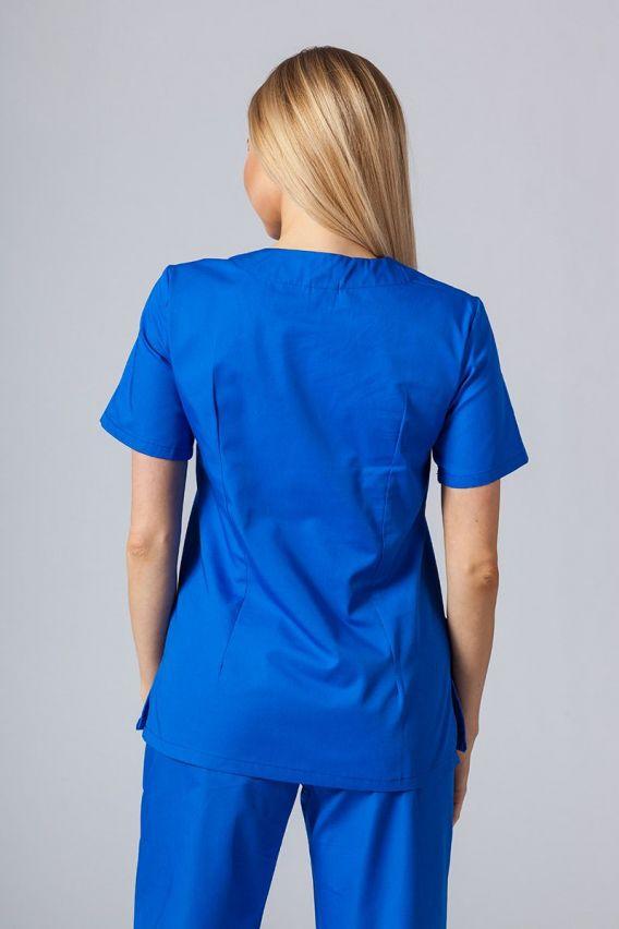 bluzy-medyczne-damskie Bluza medyczna damska Sunrise Uniforms królewski granat taliowana