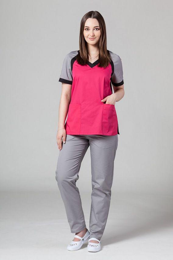 bluzy-medyczne-damskie Bluza medyczna damska Sunrise Uniforms Active malinowa