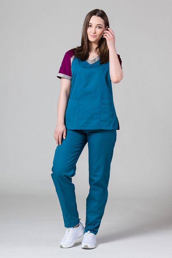 bluzy-medyczne-damskie Bluza medyczna damska Sunrise Uniforms Active karaibski błękit