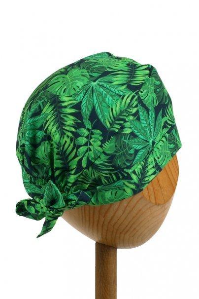 czepki-damskie Czepek Sunrise Uniforms Style Unisex wywijany zielone liście