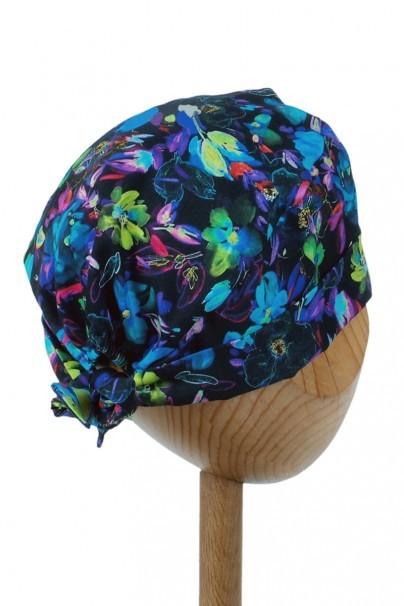 czepki-damskie Czepek Sunrise Uniforms Style Unisex kolorowe kwiaty (wywijany)