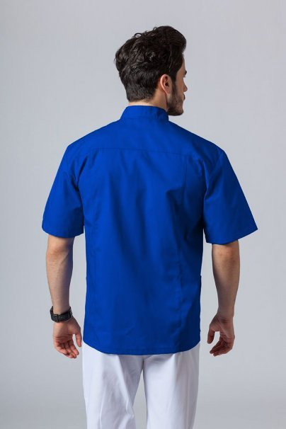 bluzy-medyczne-meskie Koszula/bluza medyczna męska ze stójką granatowa
