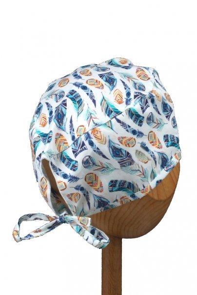 czepki-damskie Czepek Sunrise Uniforms Style Unisex kolorowe piórka