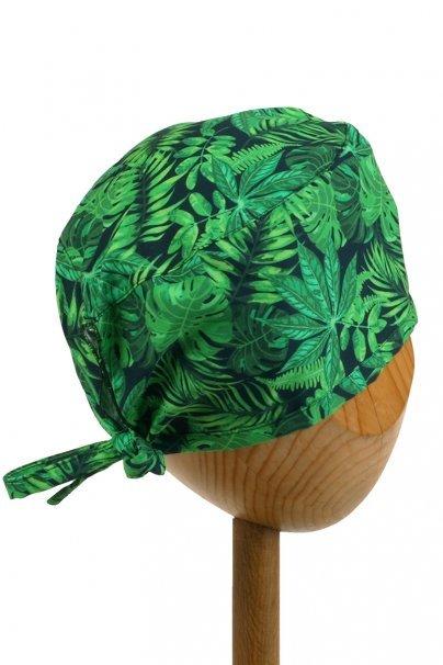 czepki-damskie Czepek Sunrise Uniforms Style Unisex zielone liście