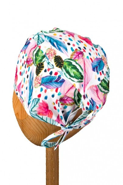 czepki-damskie Czepek Sunrise Uniforms Style Unisex malowane liście i piórka