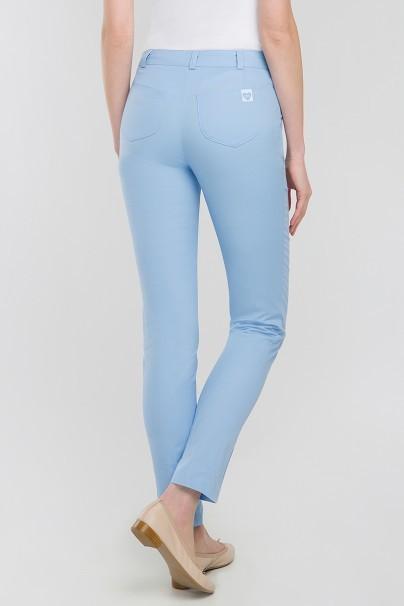 spodnie-medyczne-damskie Spodnie medyczne rurki Vena Cindy błękitne