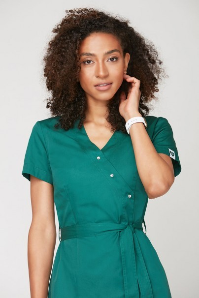 bluzy-medyczne-damskie Fartuszek medyczny wiązany Emma zielony