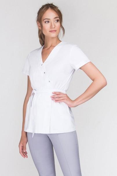 bluzy-medyczne-damskie Fartuszek medyczny wiązany Emma biały