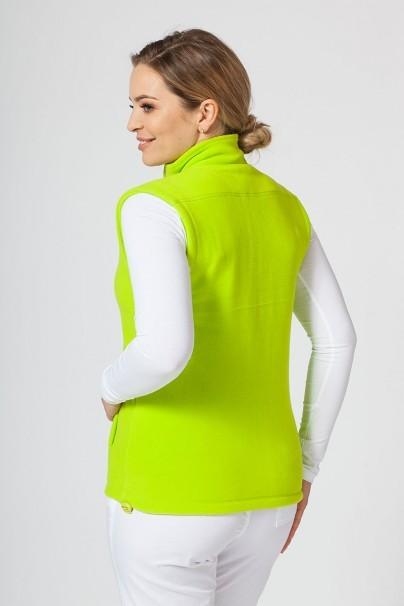 bluzy-polarowe-damskie Damska kamizelka polarowa Malfini limonkowa