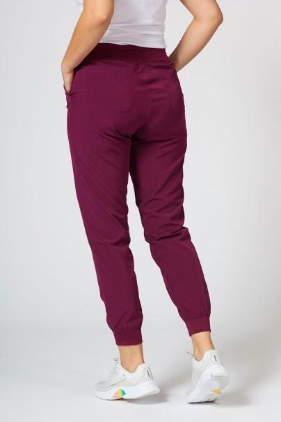 spodnie-medyczne-damskie Spodnie damskie Maevn Matrix Impulse Jogger wiśniowe